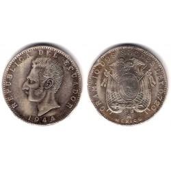 (80) Ecuador. 1944. 2 Sucres (MBC-) (Plata)