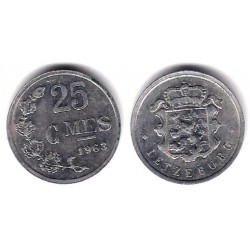 (45a.1) Luxemburgo. 1963. 25 Centimes (BC)
