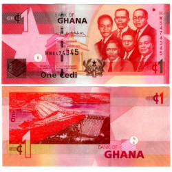 (37g) Ghana. 2017. 1 Cedi (SC)