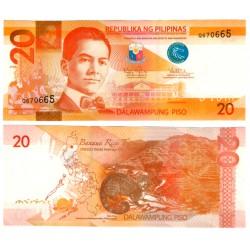 (206a) Filipinas. 2010. 20 Piso (SC)