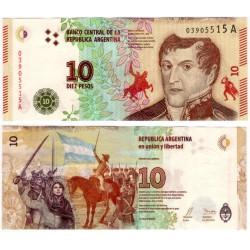 (360) Argentina. 2016. 10 Pesos (SC)