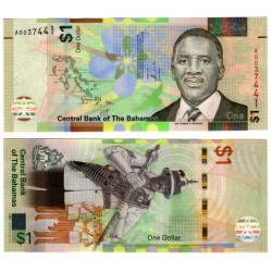 (77) Bahamas. 2017. 1 Dollar (SC)