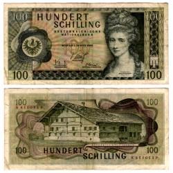 (145a) Austria. 1969. 100 Schilling (MBC-) Pequeñas roturas