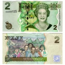 (109b) Islas FIji. 2007-11. 2 Dollars (SC)