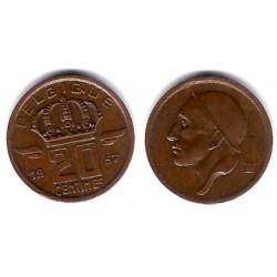 (146) Bélgica. 1957. 20 Centimes (SC)