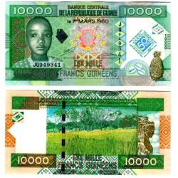 (45) República de Guinea. 2010. 10000 Francs (SC)