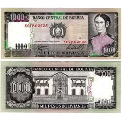 (167a) Bolivia. 1982. 1000 Pesos (SC)