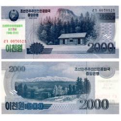 Corea del Norte. 2018. 2000 Won (SC)
