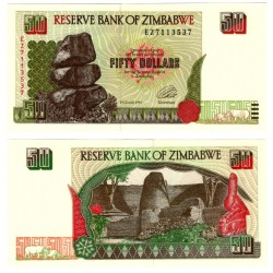 (8a) Zimbabue. 1994. 50 Dollars (SC)