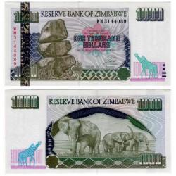 (12a) Zimbabue. 2003. 1000 Dollars (SC)