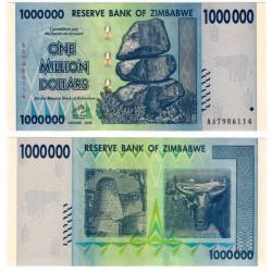 (77) Zimbabue. 2008. 1000000 Dollars (SC)