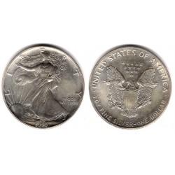 (273) Estados Unidos de América. 1990. 1 Dollar (SC) (Plata)