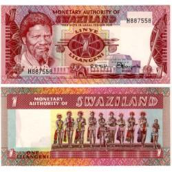 (1a) Suazilandia. 1974. 1 Lilangeli (SC)