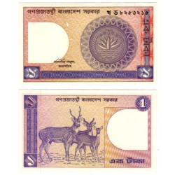 (6Ba) Bangladesh. 1982-93. 1 Taka (SC)