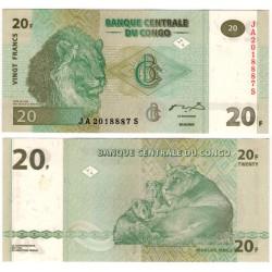 (94) Congo. 2003. 20 Francs (SC)
