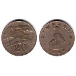(4) Zimbabue. 1980. 20 Cents (BC)