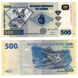 (96a) Congo. 2002. 500 Francs (SC)