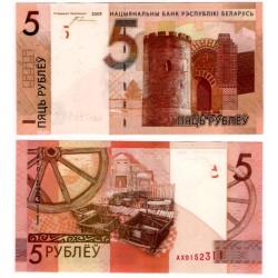 (37a) Bielorrusia. 2009. 5 Rubley (SC)