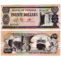 (30f) Guyana. 1996-2018. 20 Dollars (SC)