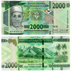 República de Guinea. 2018. 2000 Francs (SC)