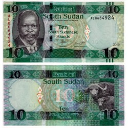 (12a) Sudán del Sur. 2015. 10 Pounds (SC)