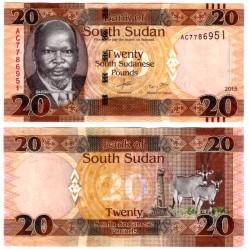 (13a) Sudán del Sur. 2015. 20 Pounds (SC)