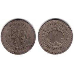 (17) Ghana. 1967. 20 Pesewas (BC)