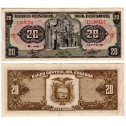 (121Aa) Ecuador. 1986. 20 Sucres (MBC+)