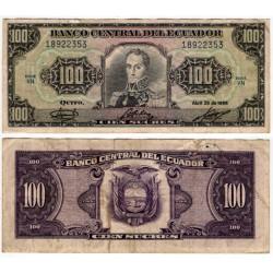 (123) Ecuador. 1986. 100 Sucres (BC)