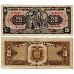 (121Aa) Ecuador. 1986. 20 Sucres (MBC)