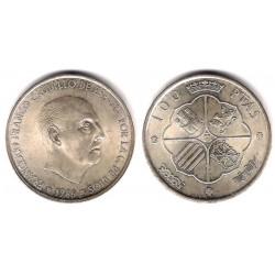 Estado Español. 1966*(19-68). 100 Pesetas (SC) (Plata)