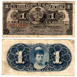 Billete de 1 Peso de 1896 (BC)