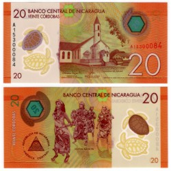 (210) Nicaragua. 2014. 20 Cordobas (SC)