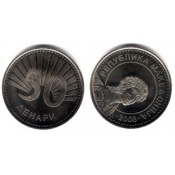 (32) Macedonia. 2008. 50 Denari (SC)