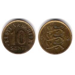 (22) Estonia. 1991. 10 Senti (MBC)