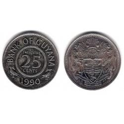 (34) Guyana. 1990. 25 Cents (SC)