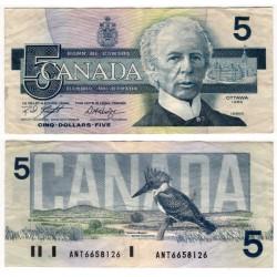 (95e) Canadá. 1986. 5 Dollars (MBC)
