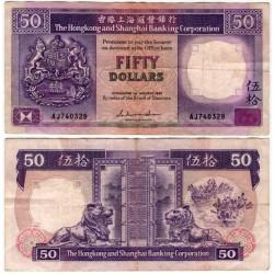 (193a) Hong Kong. 1987. 50 Dollars (BC)