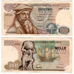 (136a) Bélgica. 1964. 1000 Francs (MBC) Pequeños agujeros