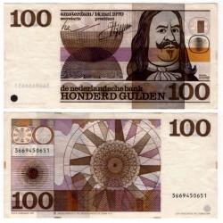 (93a) Países Bajos. 1970. 10 Gulden (MBC) Pequeños agujeros