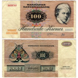 (51t) Dinamarca. 1990. 100 Kroner (BC) Peq. rotura doblez central