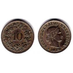 (27) Suiza. 1920. 10 Rappen (BC+)