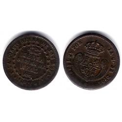 Isabel II. 1853. ½ Décima de Real (MBC) Ceca de Segovia