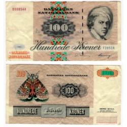 (54d) Dinamarca. 1995. 100 Kroner (MBC) Agujeros de grapa