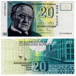 (122) Finlandia. 1993. 20 Markkaa (SC)