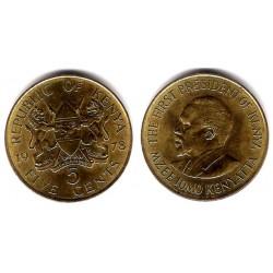 (17) Kenia. 1978. 5 Cent (EBC-)