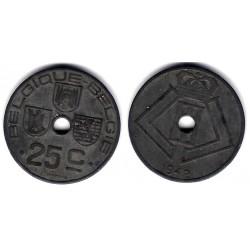 (131) Bélgica. 1942. 25 Centimes (BC+)