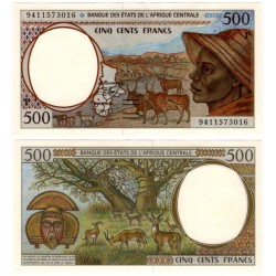 (601Pb) Estados África Central. 1994. 500 Francs (SC)