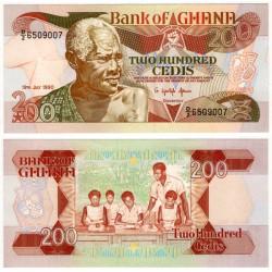 (27b) Ghana. 1990. 200 Cedis (SC)