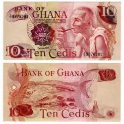 (16f) Ghana. 1978. 10 Cedis (SC)